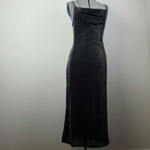 Vintage 90's Black Metallic Dress